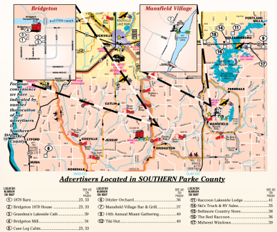 Welcome to Southern Parke County (MAP)