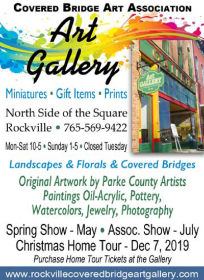 Visit the Rockville Covered Bridge Art gallery