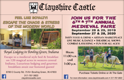 Visit Clayshire Castle and Annual Medieval Faire
