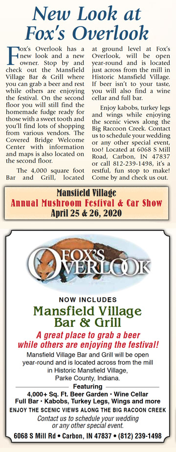 Fox's Overlook and Mansfield Village Bar & Grill
