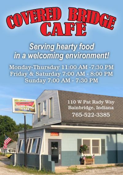 Visit The Covered Bridge Café in Bainbridge Indiana