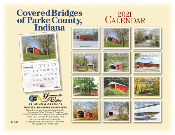 PARKE COUNTY'S COVERED BRIDGES 2021 CALENDAR