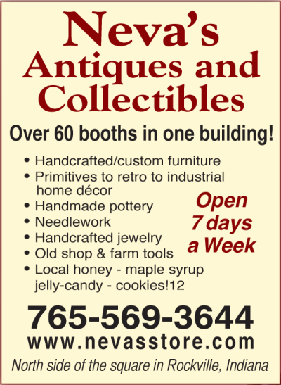 AD: Country Home Furniture & CraftsNeva's Antiques & Collectibles