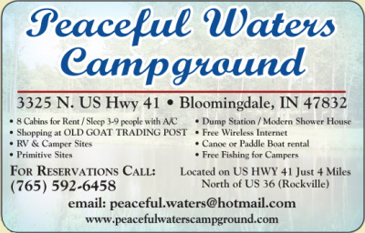 AD: Country Home Furniture & CraftsPeaceful Waters Campground and The Old Goat Trading Post