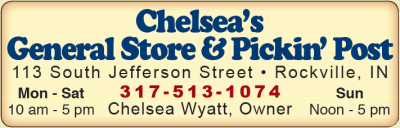 AD: Chelsea's General Store & Pickin' Post