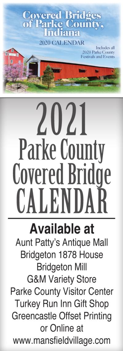 AD: Parke County Covered Bridge Calendar