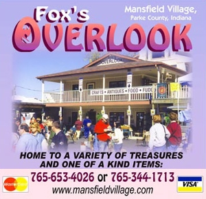 FOX'S OVERLOOK at MANSFIELD VILLAGE ONLINE STORE!  -- Books, Calendars, Gifts and More!!!