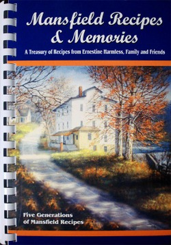 Get your copy of the Mansfield Recipes & Memories Cookbook.  Call 765-653-4026